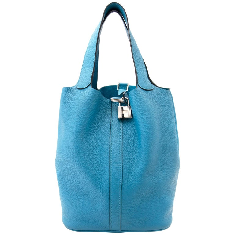 Hermes Turquoise 26 Picotin Clemence Taurillon