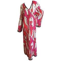 Emilio Pucci Sheer Cotton Caftan Dress