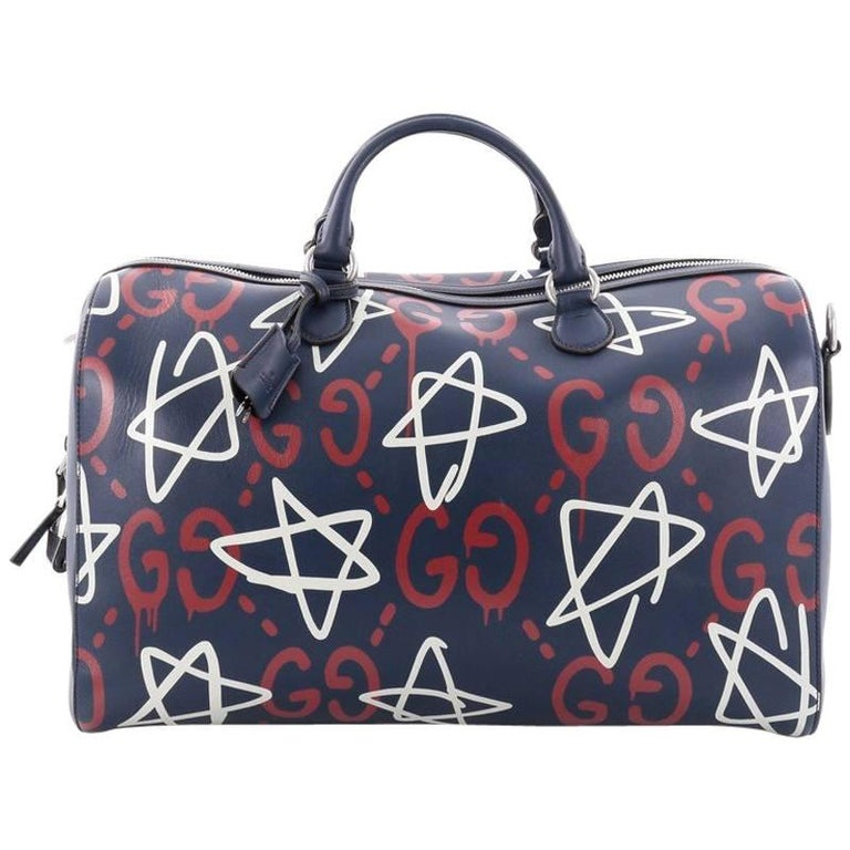 Gucci Convertible Duffle Bag GucciGhost Leather at 1stdibs d6b61452826