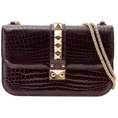 Valentino Rock Lock Medium Niloticus Crossbody Bag