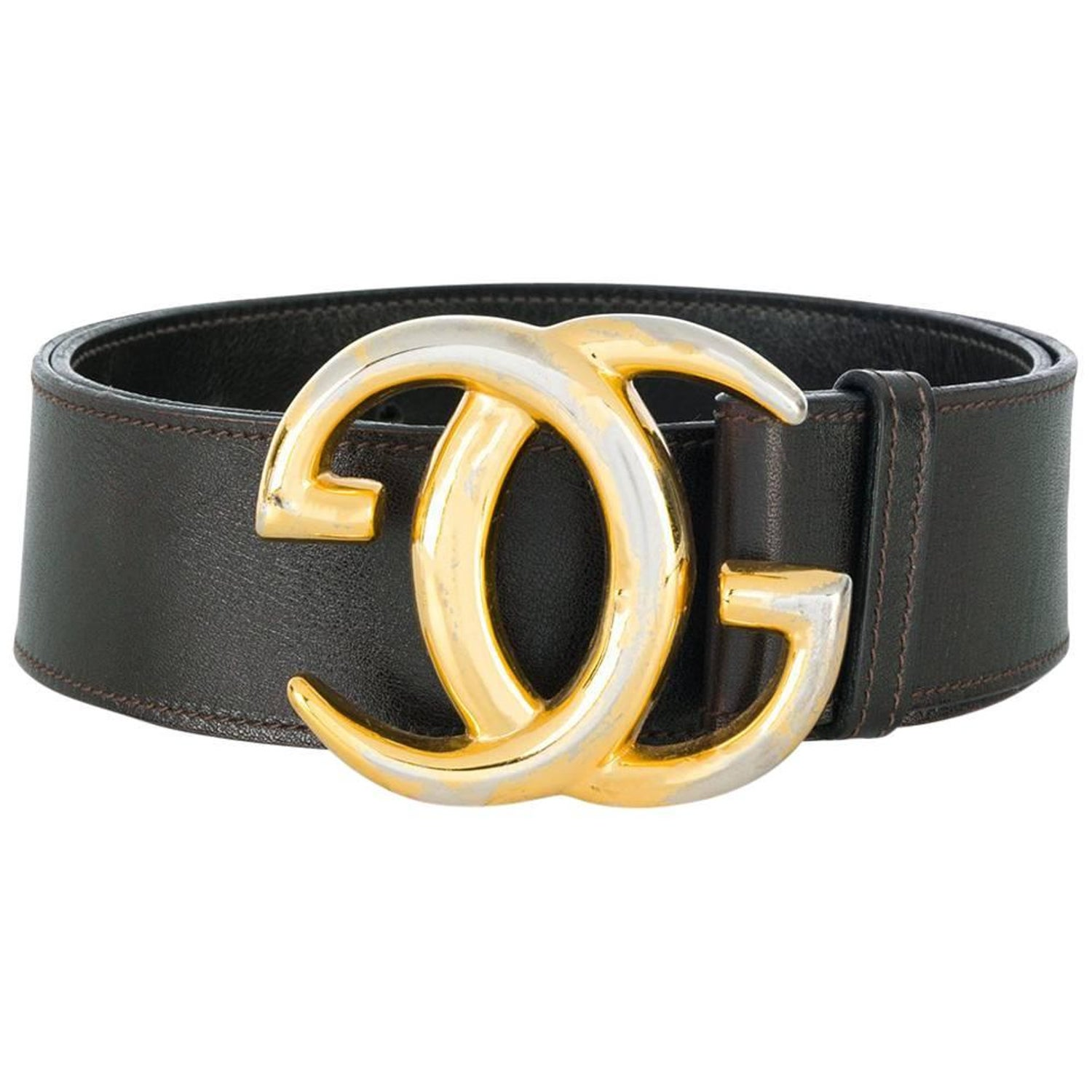 a3cd73fbef9 Gucci Interlocking GG Brown Leather Belt at 1stdibs
