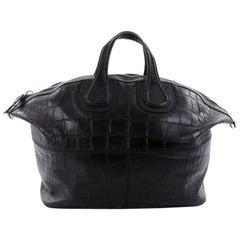 Givenchy Nightingale Satchel Crocodile Embossed Leather XL
