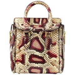 Alexander McQueen Mini 'Heroine' Snakeskin Cross Body Bag