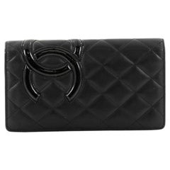 Chanel Cambon Wallet Quilted Lambskin Long is a chic and luxuriou