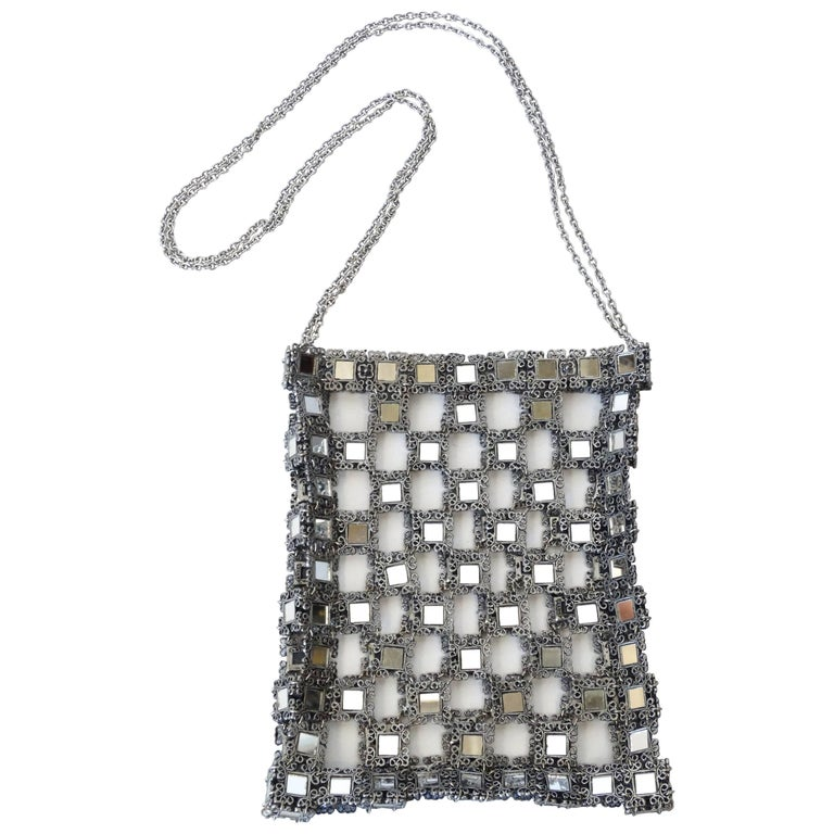 1990s Clara Kasavina Mirrored Evening Bag