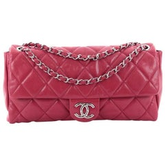 Chanel Nature Flap Bag Quilted Glazed Caviar Large