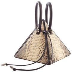 NitaSuri Lia Python Pyramid Handbag