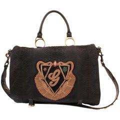 Ultra Rare Gucci Black Python Bag XL Tote Milan Fashion Week 2008 Limited