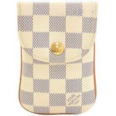 Louis Vuitton Etui Telephone MM Damier Azur Canvas Phone Case