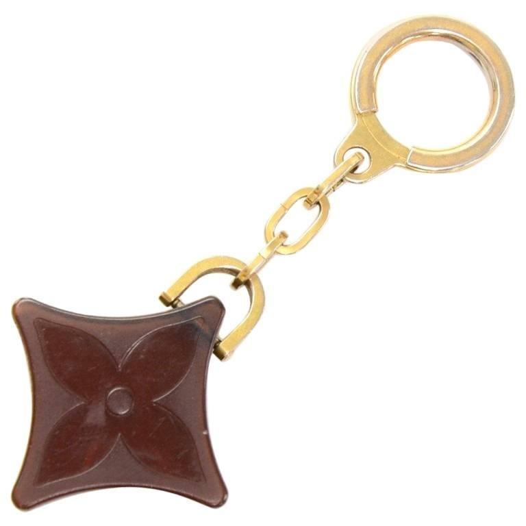 Louis Vuitton Brown Monogram Motif Plastic Key Holder 1