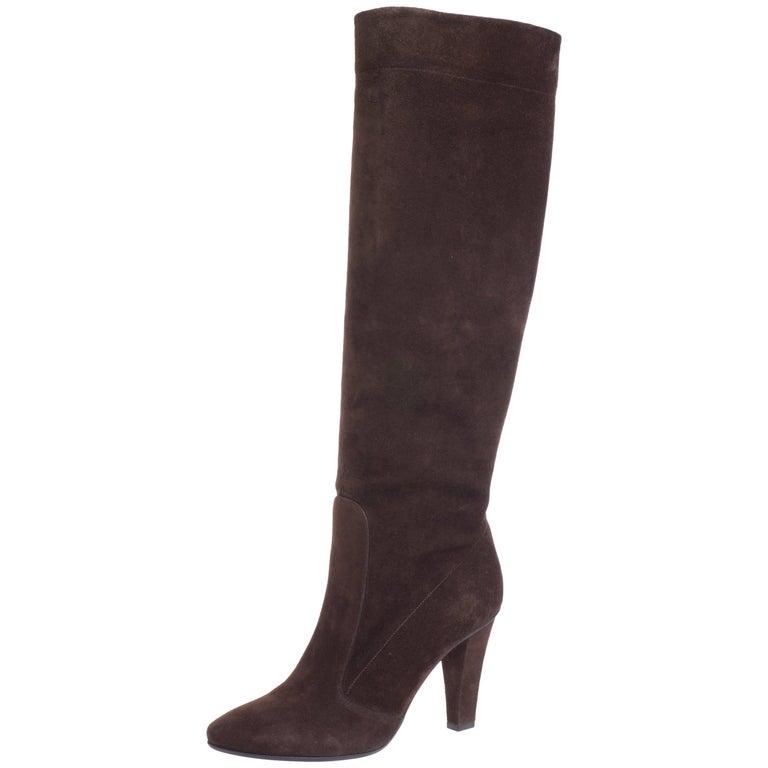 Jimmy Choo Knee High Tobacco Leather Boots