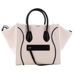 Celine Phantom Handbag Canvas with Leather Medium