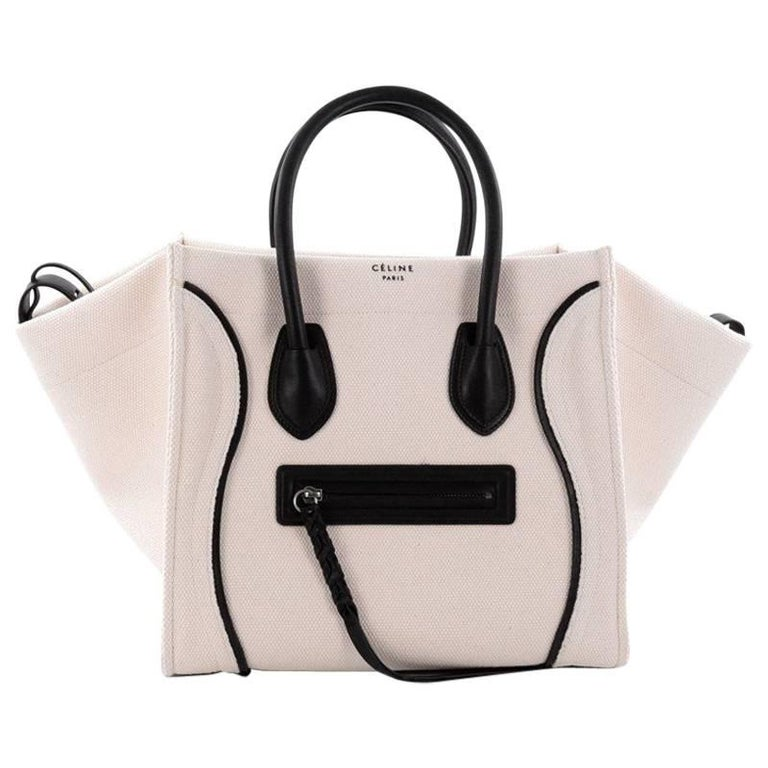 Celine Phantom Handbag Canvas with Leather Medium at 1stdibs 5fdd7a542debf