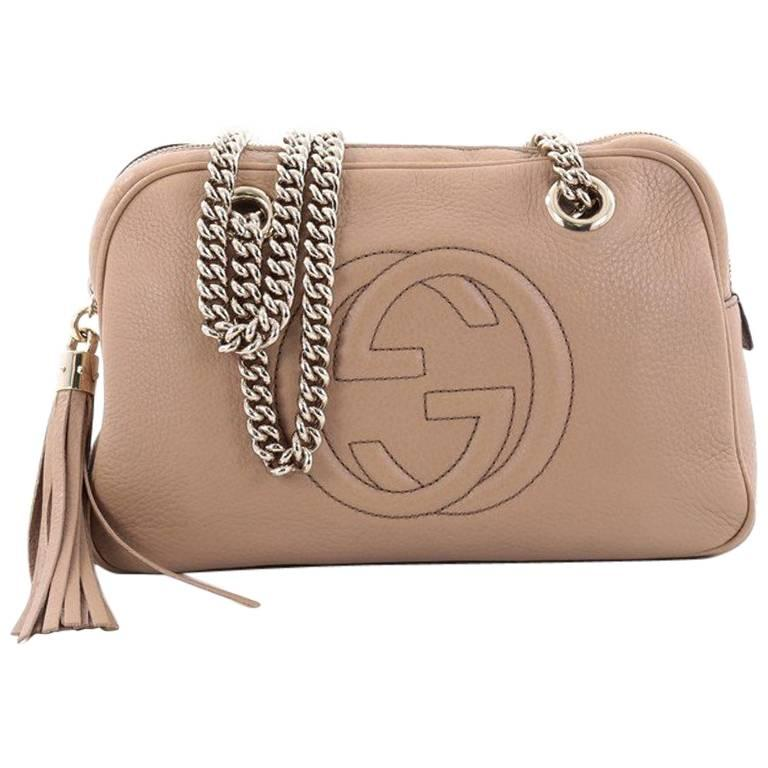 ce5d417ad Gucci Soho Chain Zipped Shoulder Bag Leather Small at 1stdibs