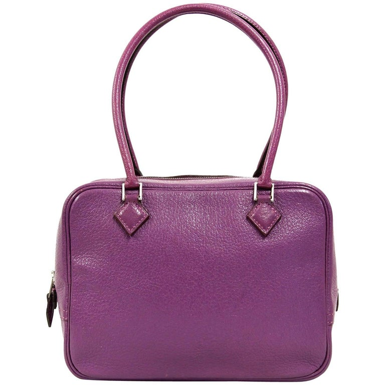 2000s Hermès Purple Leather Hand Bag