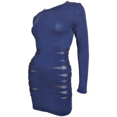Versace Bodycon Dress With Side Mesh Covered Cutouts