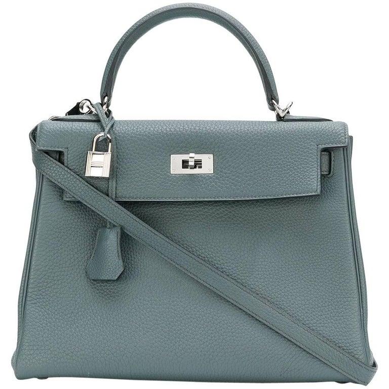 Hermès 25cm Kelly Bag Blue Orage Togo 1