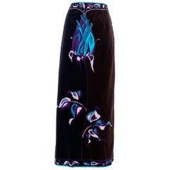 A 70s Floor-length Emilio Pucci Velvet Skirt