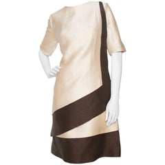 A 1960s Carven Two-Toned Silk Dress