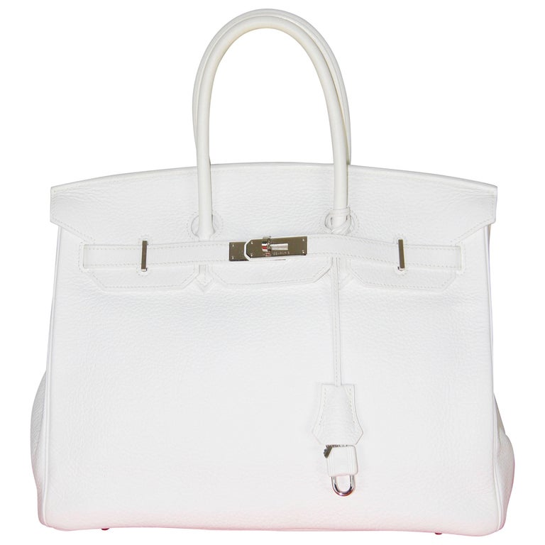 HERMES BIRKIN 35 White Togo Leather Like New