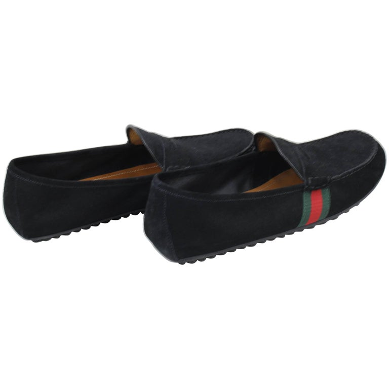 Black Gucci Suede Loafer Size 9 5 European At 1stdibs