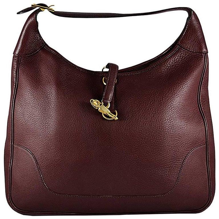 HERMES Brown Trim Bag