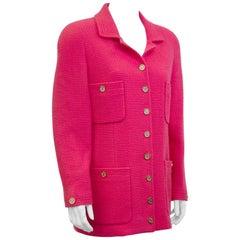 1980s Chanel Magenta Boucle Jacket