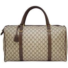 1970s Gucci Monogram Duffle Weekender Bag