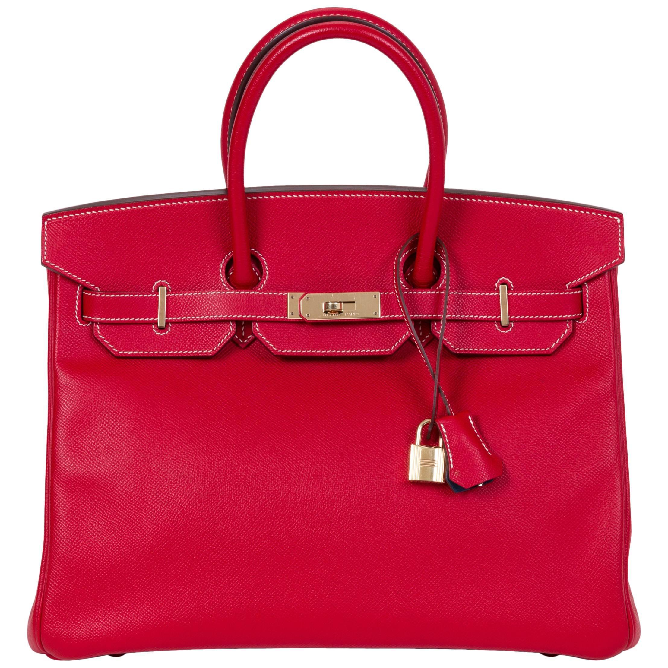 Hermes Candy Birkin 35 Rouge Casaque