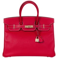 Hermes Candy Birkin 35 Rouge Casaque