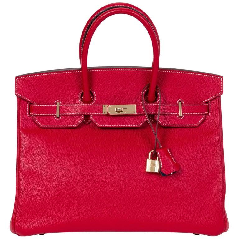 40c28317ed61 Hermes Candy Birkin 35 Rouge Casaque For Sale at 1stdibs