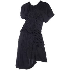 1980s Comme des Garcons Asymmetrically Draped Dress