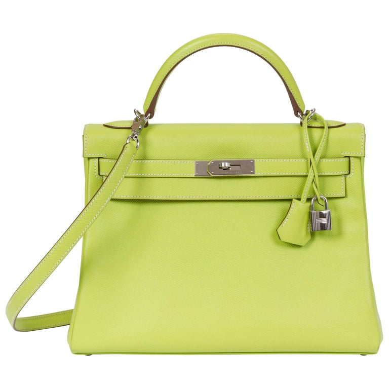 e534c05f4ed Hermes Candy Kelly 32 Kiwi Lichen Epsom For Sale at 1stdibs