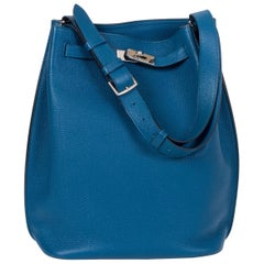 Hermes Blue Izmir So Kelly Clemence Bag
