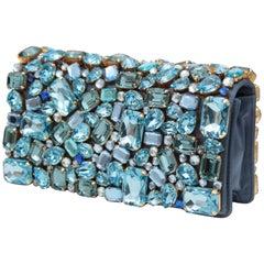 Prada Jeweled Clutch Evening Bag with Box