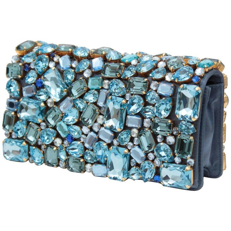 04edfff08ec3 Prada Jeweled Clutch Evening Bag with Box at 1stdibs