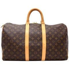 Louis Vuitton Keepall 45 Monogram Canvas Duffle Travel Bag