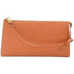 Louis Vuitton Pochette Accessories Cipango Gold Brown Epi Leather Hand Bag