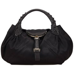 Fendi Black Satin Spy