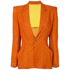 Orange Jean Paul Gaultier Polka Dot Blazer