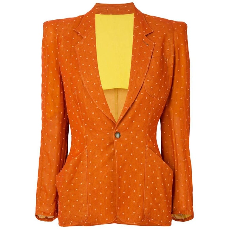 Orange Jean Paul Gaultier Polka Dot Blazer