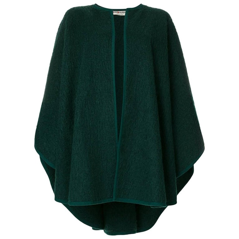 Yves Saint Laurent Green Wool Cape
