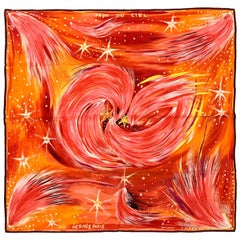 2000 Hermes 'Feux du Ciel' Silk Scarf, by Kwumi-Sefedin