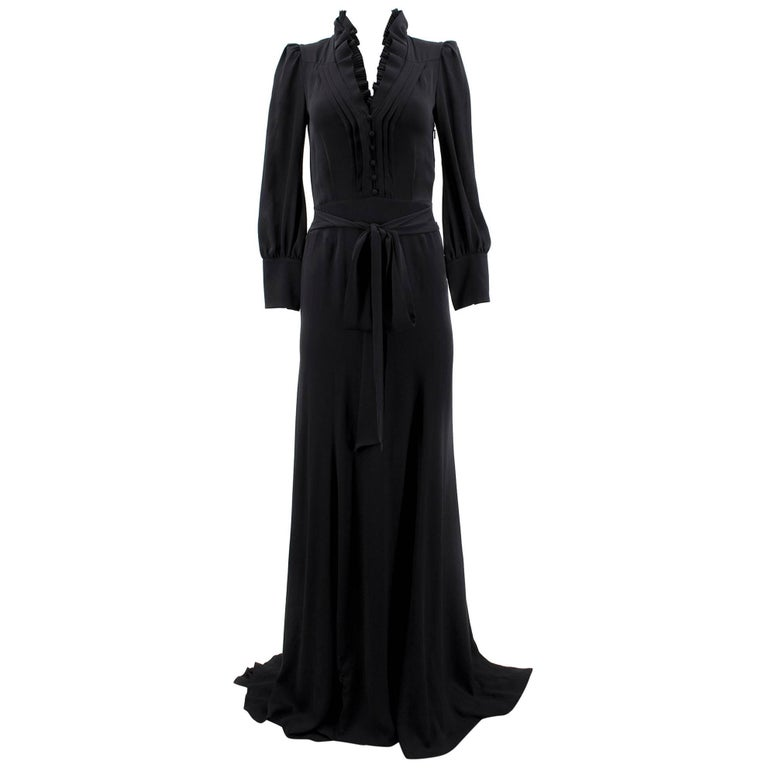 b6a201e39 Gucci Black Silk Gown For Sale at 1stdibs