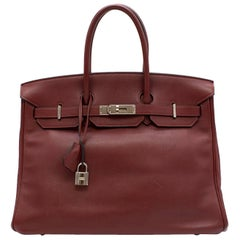 Hermes Rouge H Swift Leather 35CM Birkin Bag