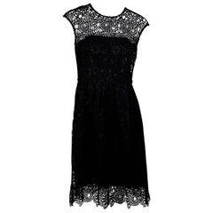 Black Lela Rose Crochet Dress