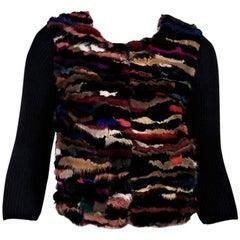 Multicolor Diane von Furstenberg Fur-Front Cardigan