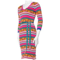 Betsey Johnson Vintage Colourful Knit Dress