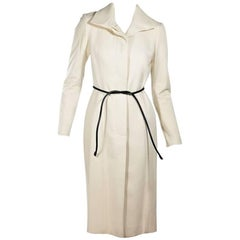 Cream Gucci Belted Wool Coat