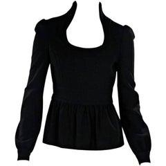 Black Tom Ford Long-Sleeve Blouse